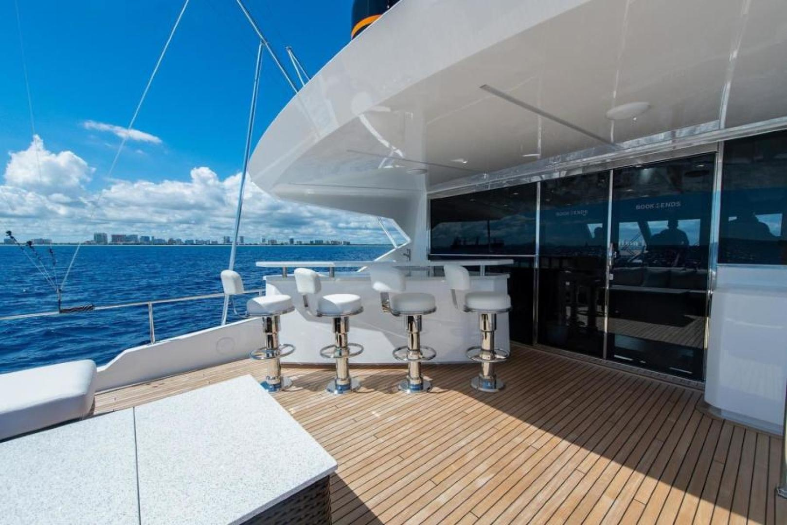 Viking-Motoryacht Enclosed Flybridge 2018-BOOK ENDS Fort Lauderdale-Florida-United States-Enclosed Bridge Aft Deck-1470638 | Thumbnail