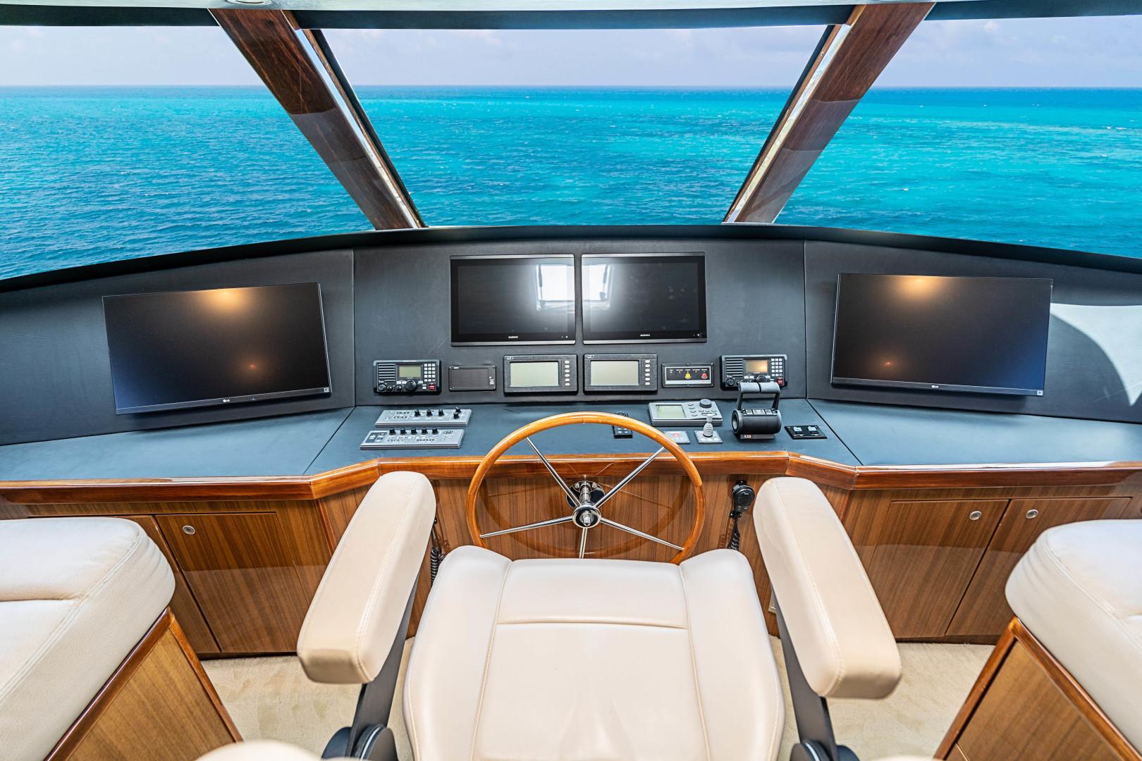 Viking-74 Enclosed Bridge 2007 -Florida-United States-74 Viking Helm-1471159   Thumbnail