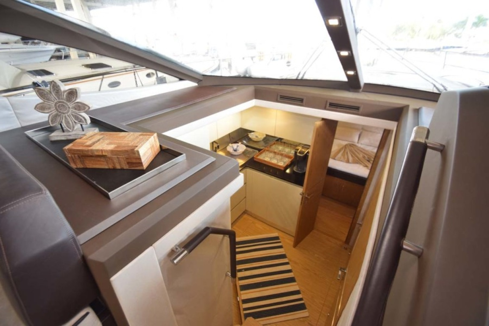Sessa-C54 Express 2011 -Lighthouse Point-Florida-United States-Overhead View of Cabin Interior-1477098 | Thumbnail