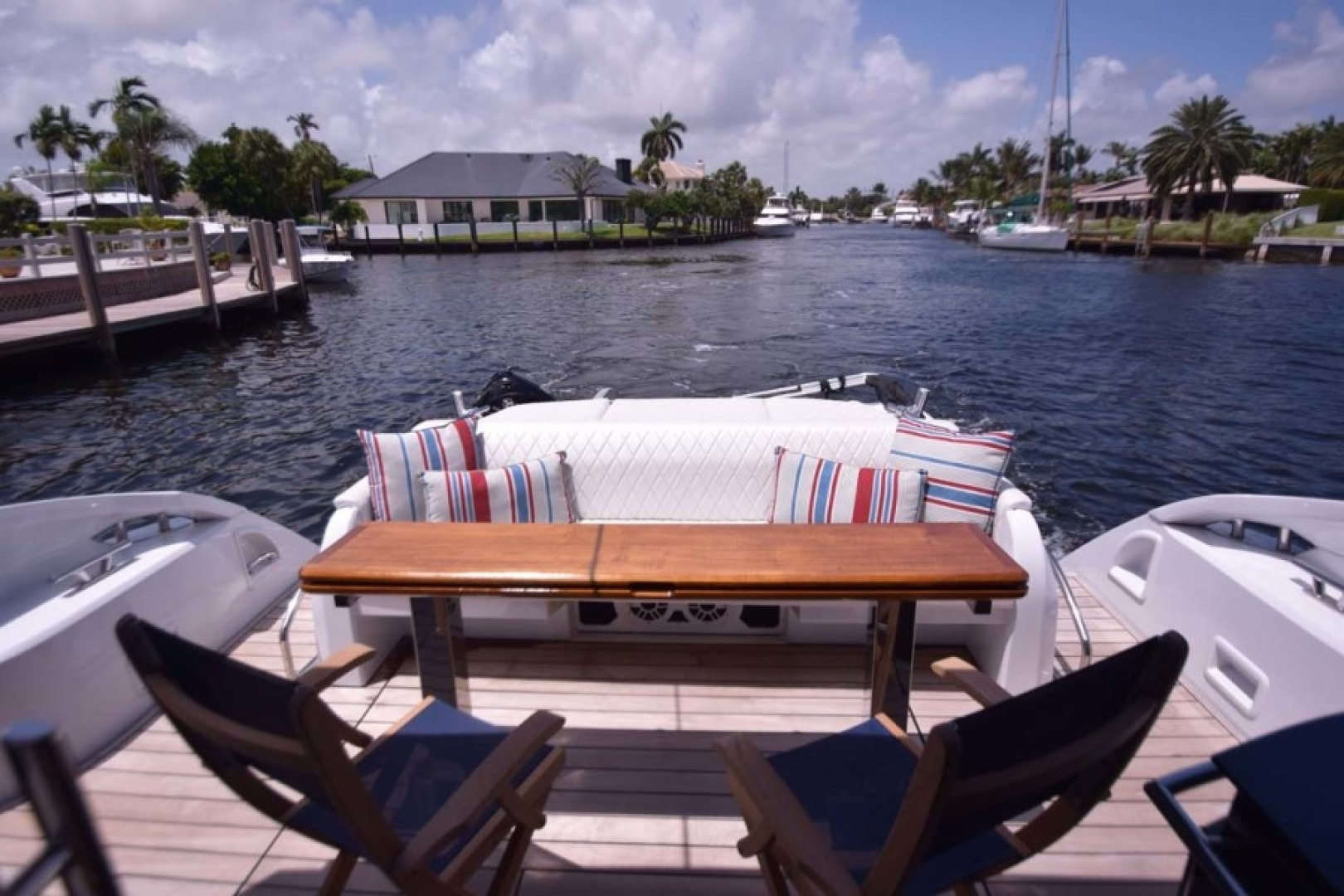 Sessa-C54 Express 2011 -Lighthouse Point-Florida-United States-Aft Deck Viewed to Stern-1477126 | Thumbnail