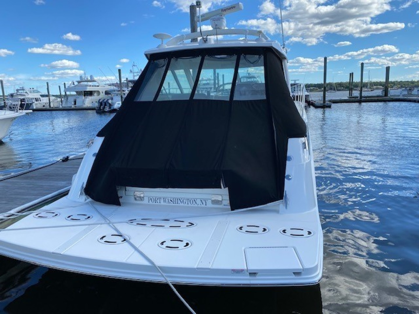 Sea Ray-450 Sundancer  2010-Something Special Too Plandome-New York-United States-Transom-1477914 | Thumbnail