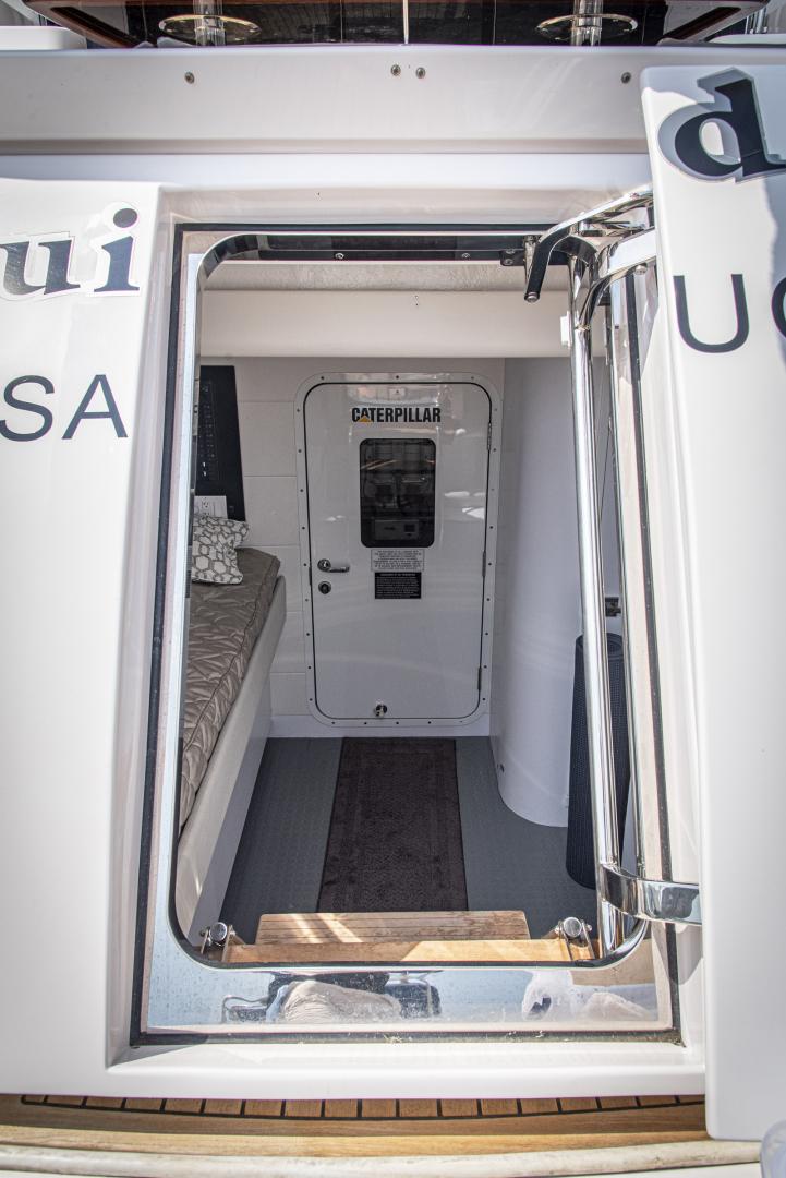 Neptunus-Motor Yacht Express 2018-LIQUID WISDOM Grand Haven-Michigan-United States-Crew engine room transom door-1485014 | Thumbnail