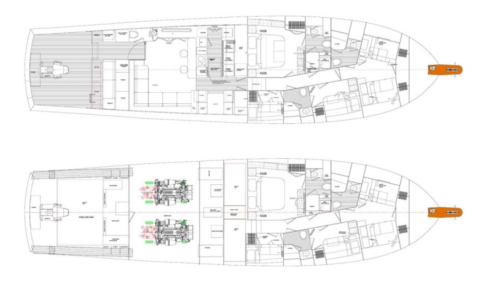 Rybovich-73 Convertible 2018-No Agenda North Palm Beach-Florida-United States-Line Drawing-1486411 | Thumbnail