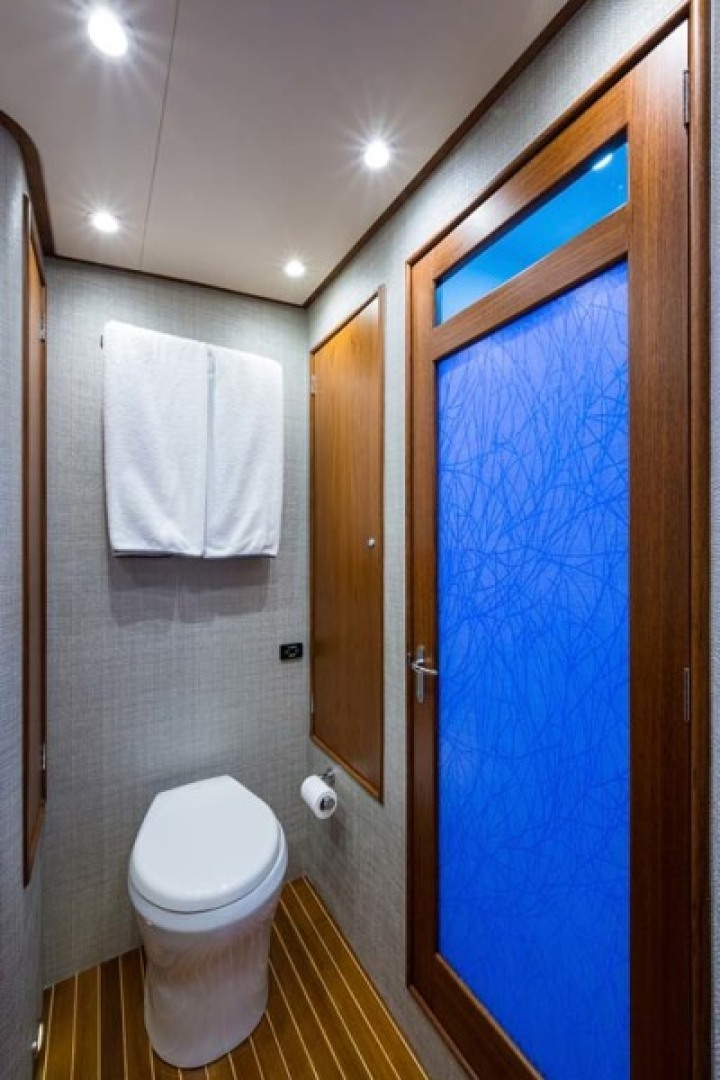 Rybovich-73 Convertible 2018-No Agenda North Palm Beach-Florida-United States-Dometic Freshwater Toilet and Stall Shower -1486343 | Thumbnail