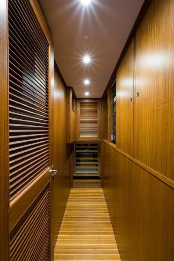 Rybovich-73 Convertible 2018-No Agenda North Palm Beach-Florida-United States-Forward of the Galley on Port and Starboard are the 2 Control rooms. They are both Air Conditioned with Teak and Holly Flooring. Portside is the Pantry/AV room and to Stb is the Electrical room-1486334 | Thumbnail