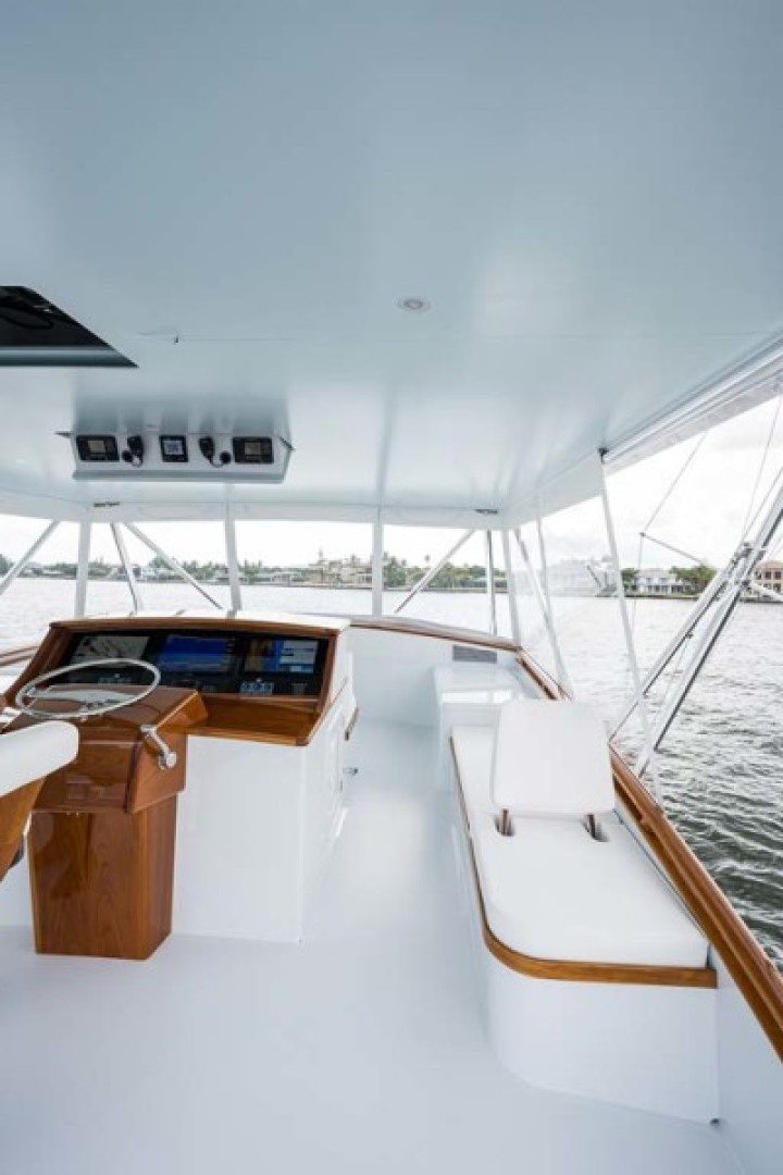 Rybovich-73 Convertible 2018-No Agenda North Palm Beach-Florida-United States-Starboard Bench Seating (with Seat Back for looking aft)-1486371 | Thumbnail