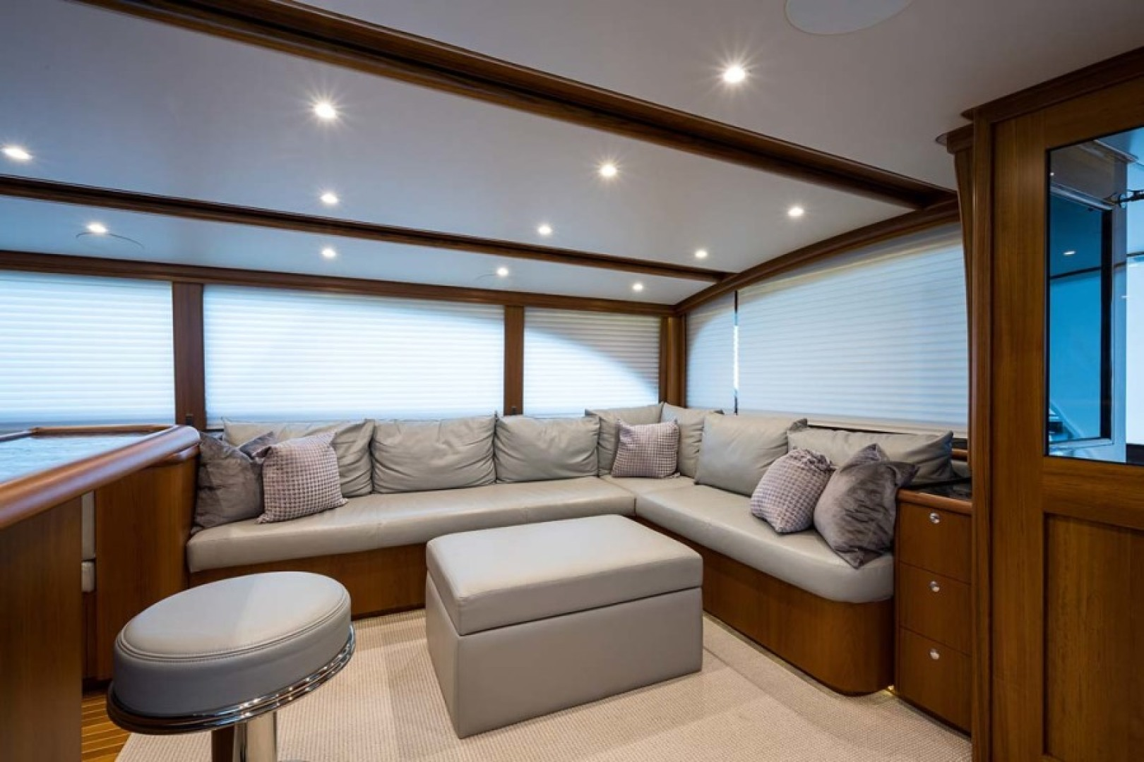 Rybovich-73 Convertible 2018-No Agenda North Palm Beach-Florida-United States-Leather L Shape Couch to Starboard with Storage below-1486321 | Thumbnail