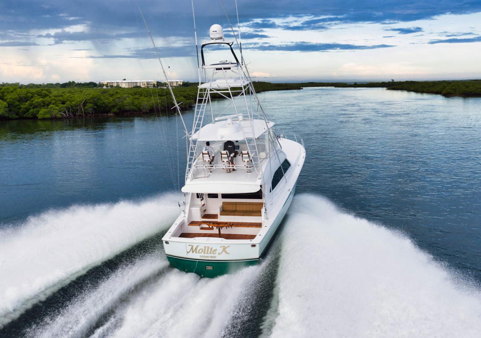 Viking-Convertible 2009-MOLLIE K Key Largo-Florida-United States-Aerial Aft View-1487445 | Thumbnail