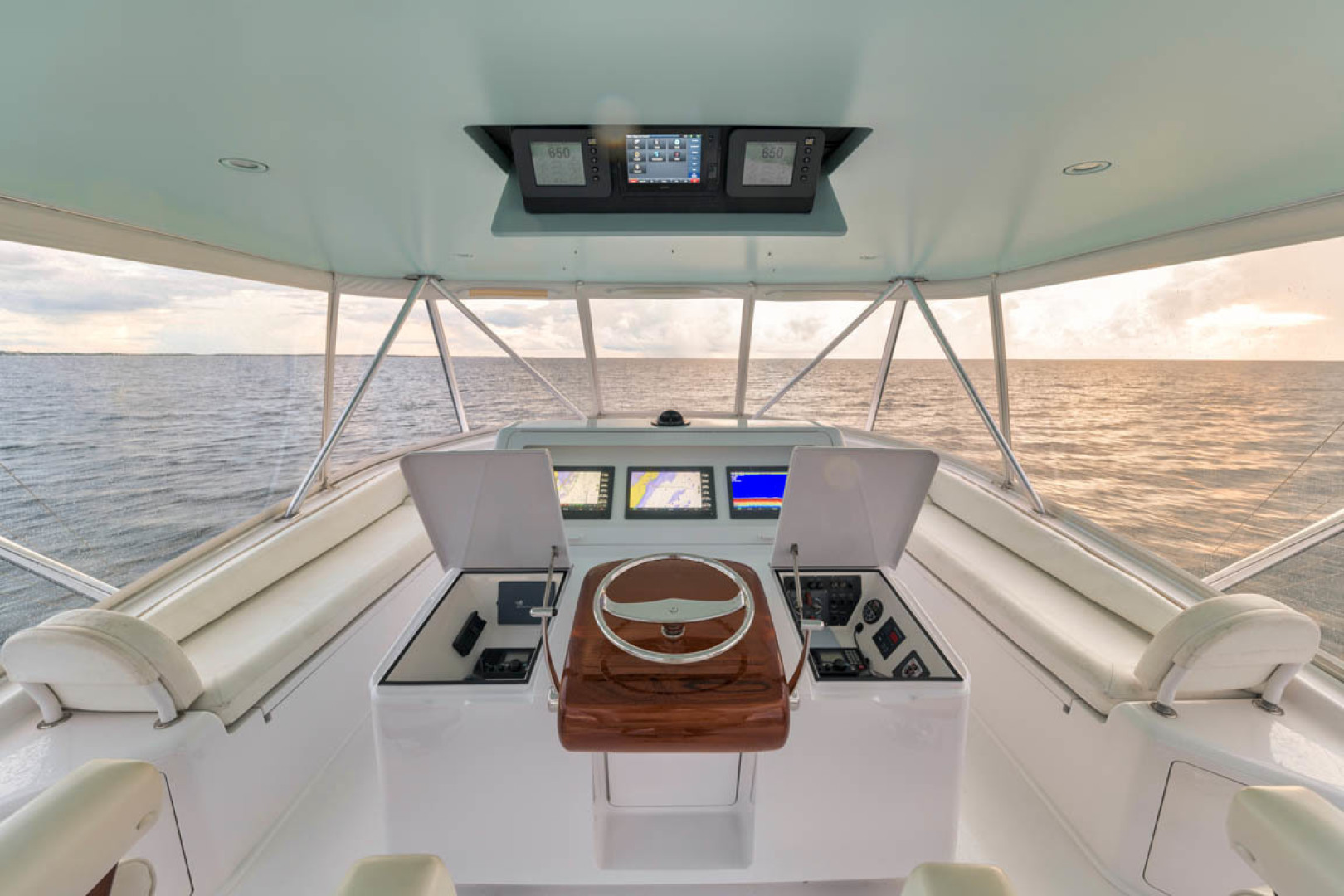Viking-Convertible 2009-MOLLIE K Key Largo-Florida-United States-Recessed Electronics Boxes And CAT Engine Displays Mounted In Drop Down Box-1487415 | Thumbnail