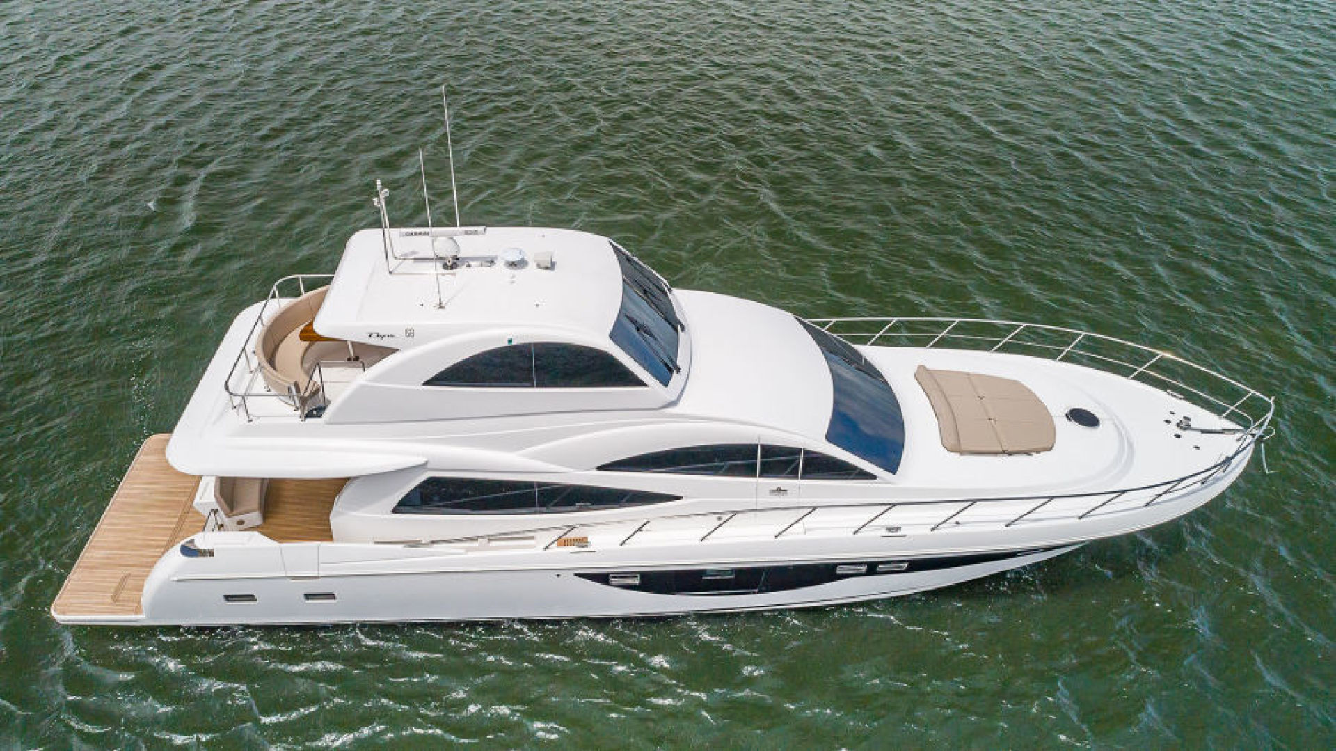 Dyna Yachts-68 Skylounge 2021 -Stuart-Florida-United States-Starboard Aerial-1490036 | Thumbnail
