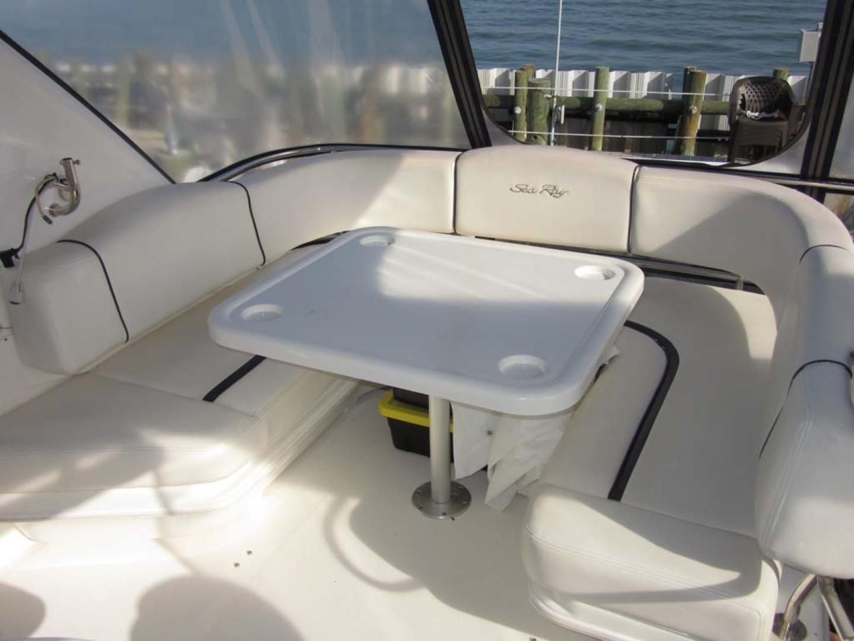 Sea Ray-44 Sedan Bridge 2006-Page Two St Petersburg-Florida-United States-Flybridge Seating And Table-1490141 | Thumbnail