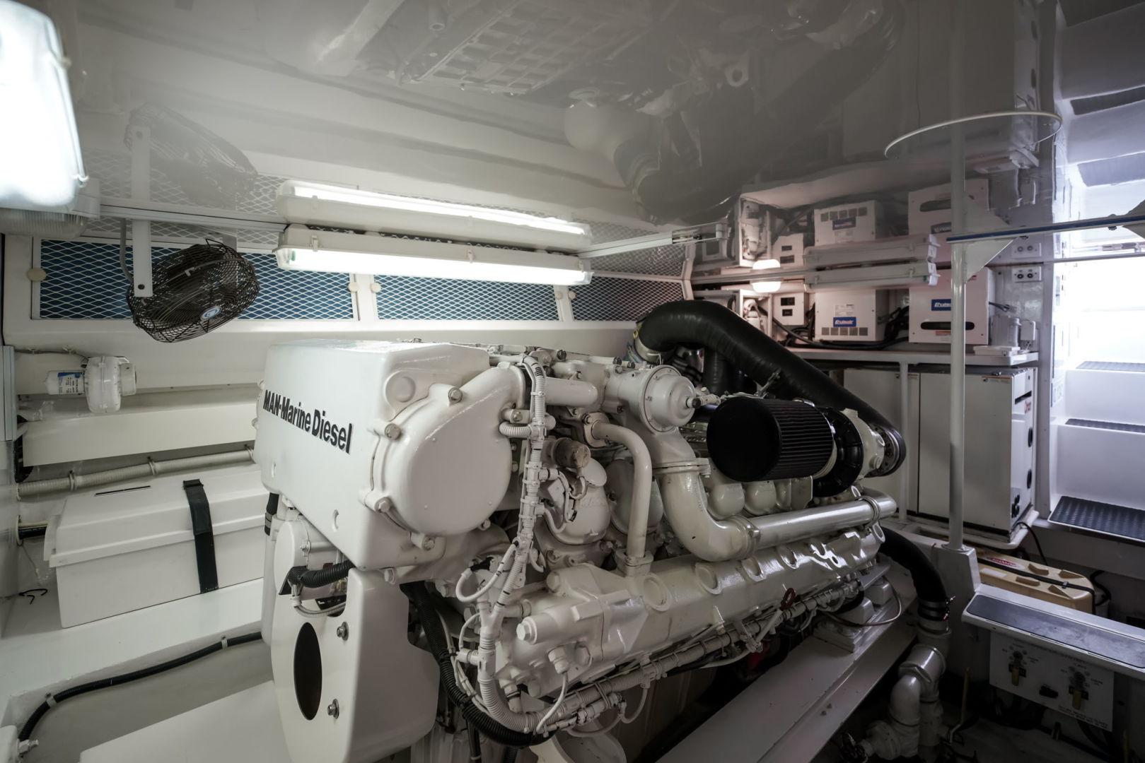 Viking-Convertible 2002-Blue Eyes North Palm Beach-Florida-United States-Engine Room-1490396   Thumbnail