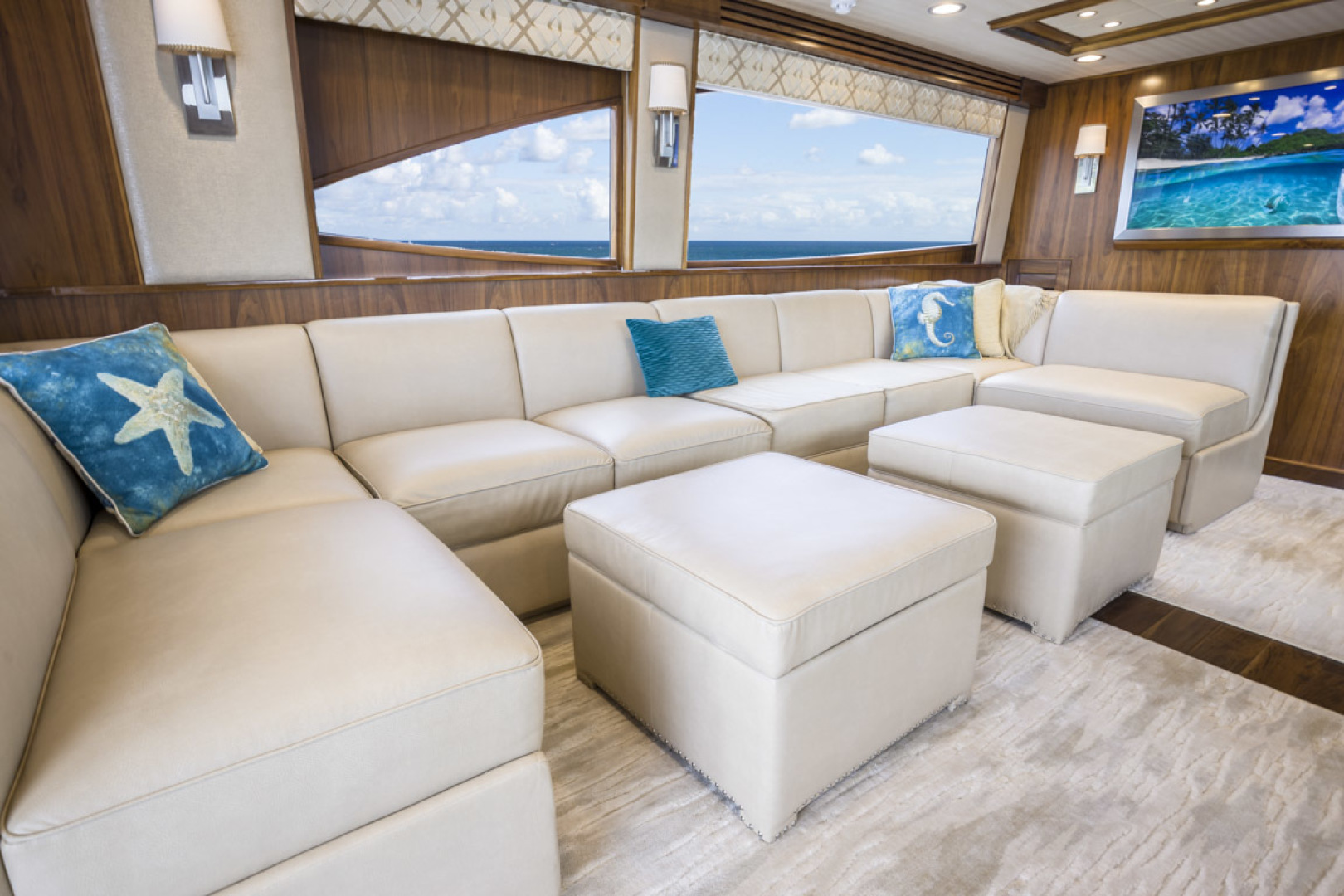 Viking-75 Motor Yacht 2015-Knot Guilty Indian Rocks Beach-Florida-United States-2015 Viking 75 MY Salon Seating-1491166 | Thumbnail
