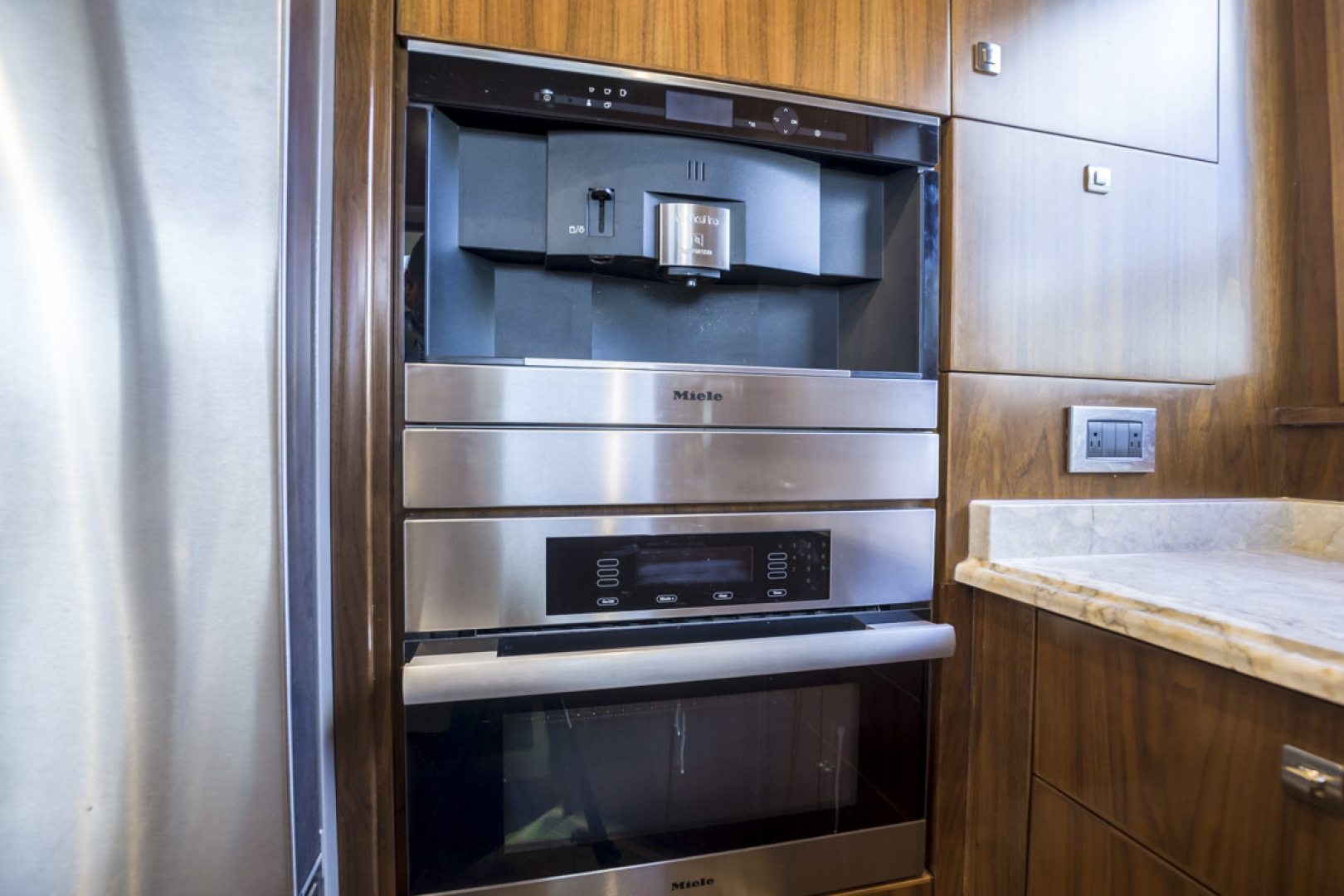 Viking-75 Motor Yacht 2015-Knot Guilty Indian Rocks Beach-Florida-United States-2015 Viking 75 MY Galley Oven & Expresso Machine-1491180 | Thumbnail
