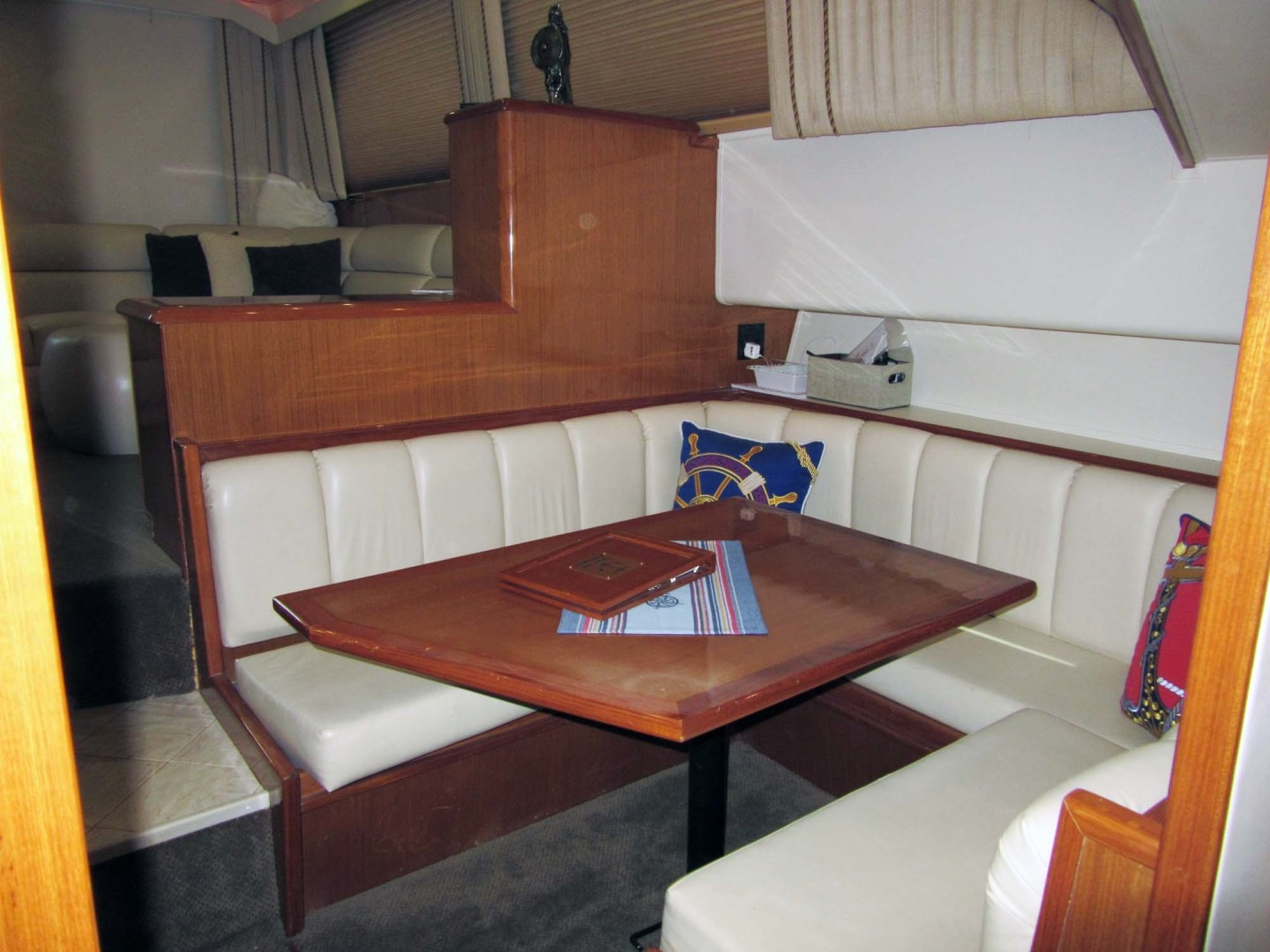 Viking-Flybridge Convertible 2001-VALHALLA Tierra Verde-Florida-United States-Dinette Looking Aft-1492713 | Thumbnail