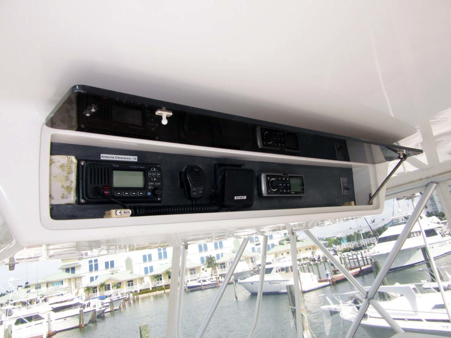 Viking-Flybridge Convertible 2001-VALHALLA Tierra Verde-Florida-United States-Overhead Electronics-1492734 | Thumbnail