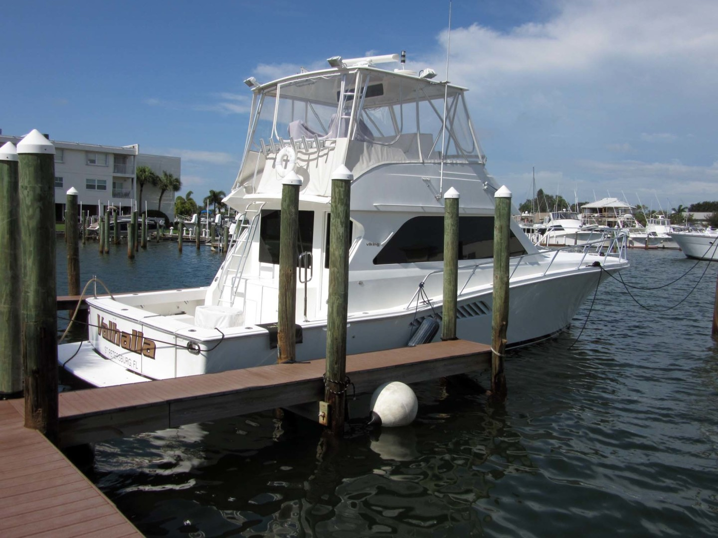 Viking-Flybridge Convertible 2001-VALHALLA Tierra Verde-Florida-United States-Starboard Profile-1492749 | Thumbnail