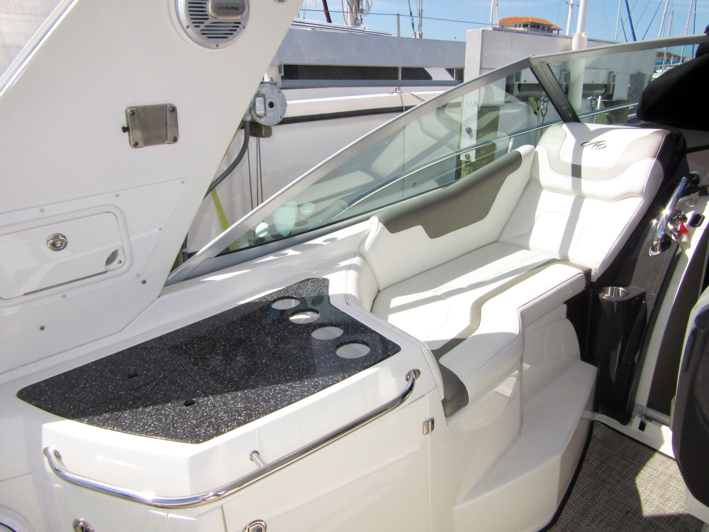 Monterey-355 Sport Yacht 2014-Sunset Serenity St. Petersburg-Florida-United States-Port Cockpit Lounge Seat-1498606 | Thumbnail
