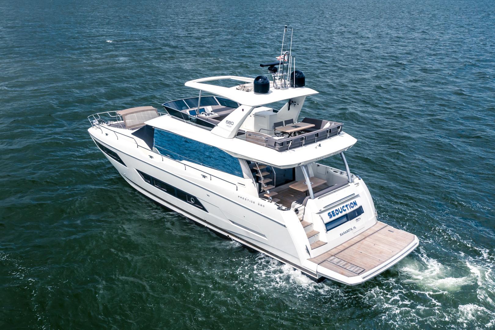 Prestige-680 Flybridge 2018-Seduction Sarasota-Florida-United States-2018 68 Prestige 680 Flybridge  Port Aft Profile-1498883 | Thumbnail