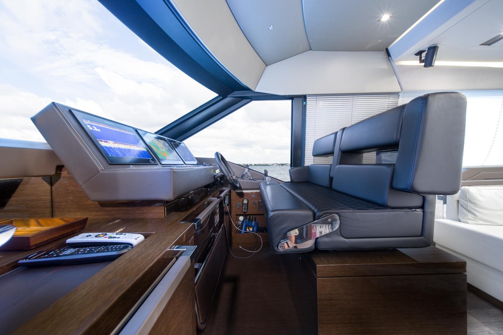 Prestige-680 Flybridge 2018-Seduction Sarasota-Florida-United States-2018 68 Prestige 680 Flybridge  Lower Helm-1501884 | Thumbnail