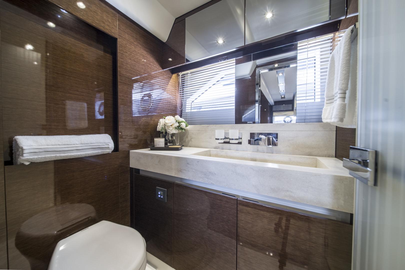 Prestige-680 Flybridge 2018-Seduction Sarasota-Florida-United States-2018 68 Prestige 680 Flybridge  VIP Stateroom Head-1498937 | Thumbnail
