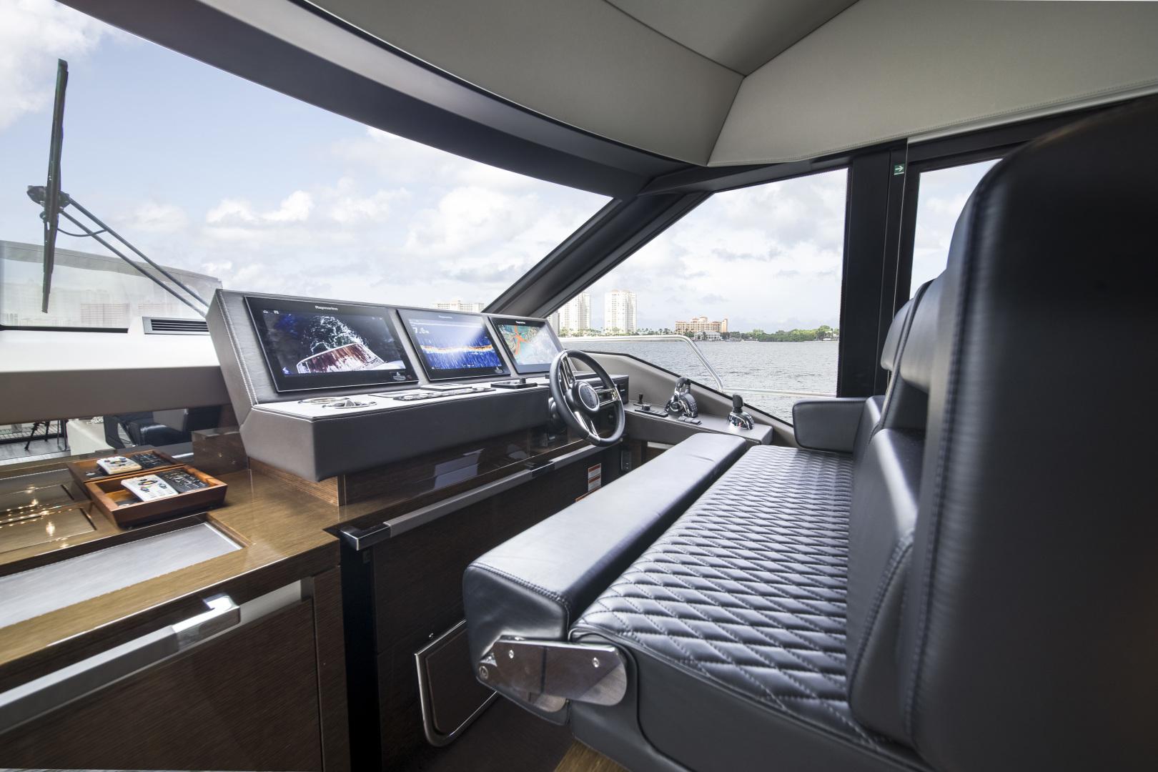 Prestige-680 Flybridge 2018-Seduction Sarasota-Florida-United States-2018 68 Prestige 680 Flybridge  Lower Helm-1498924 | Thumbnail