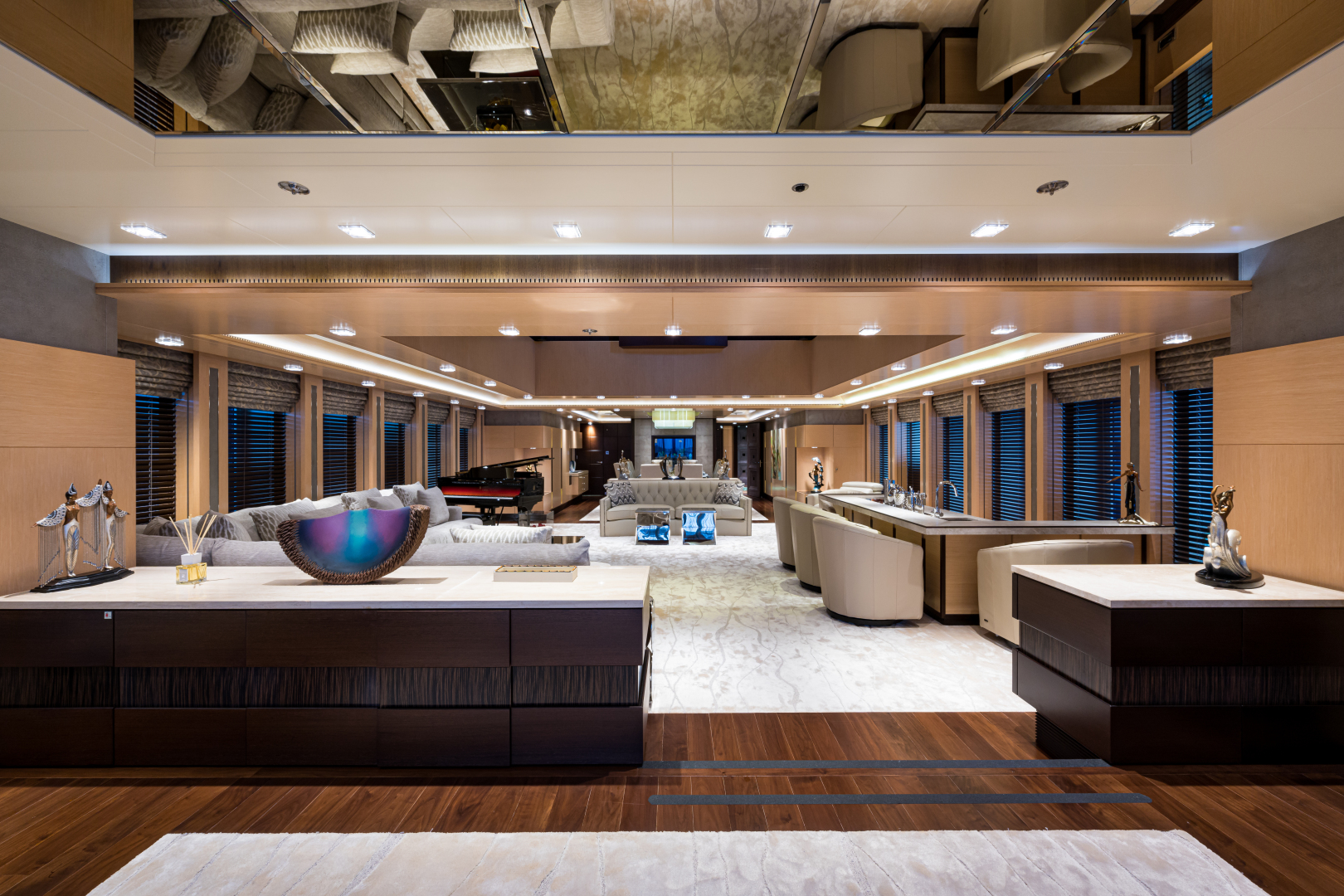 Turquoise 2012-QUANTUM OF SOLACE West Palm Beach-Florida-United States-Main Salon Entrance from Aft Deck Looking Forward-1575796 | Thumbnail