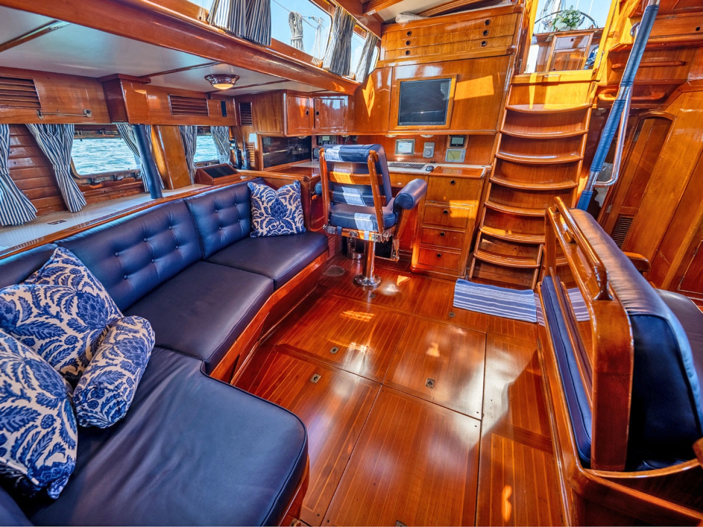 Little Harbor-78 1984-HERMIE LOUISE Fort Lauderdale-Florida-United States-Salon, Looking Aft-1536749   Thumbnail