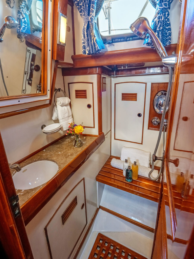 Little Harbor-78 1984-HERMIE LOUISE Fort Lauderdale-Florida-United States-Owners Shower-1536818   Thumbnail