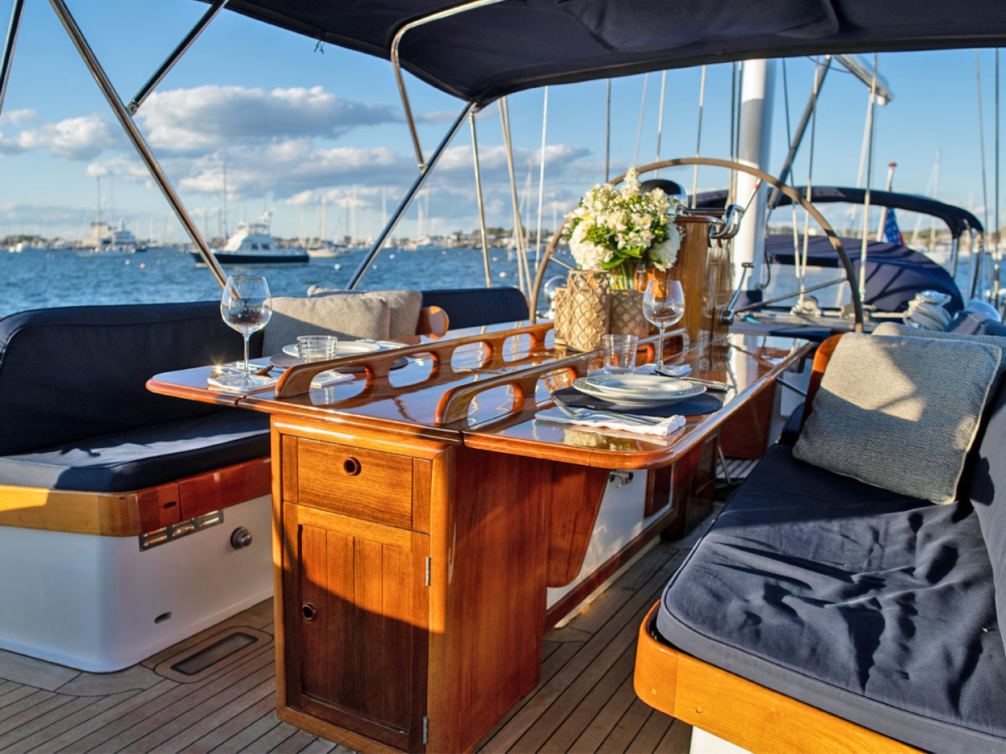 Little Harbor-78 1984-HERMIE LOUISE Newport-Rhode Island-United States-Cockpit Table-1536731 | Thumbnail