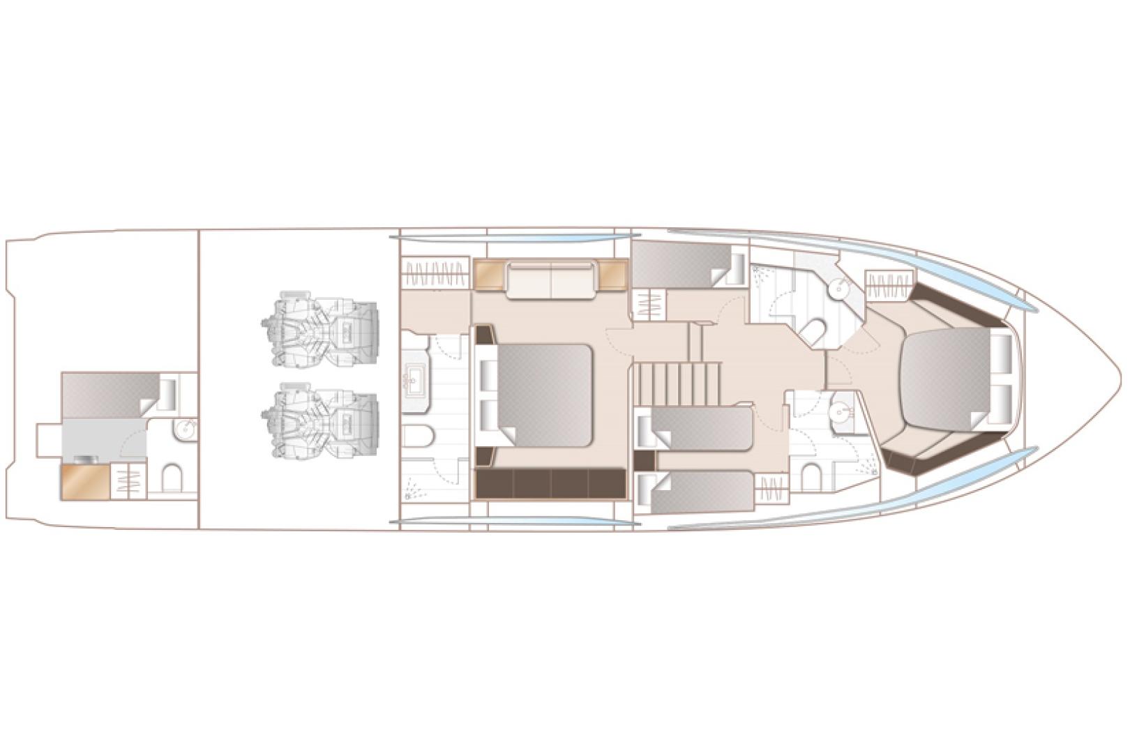 Princess-S65 2019-Paragon Cape Coral-Florida-United States-2019 65 Princess S65-Paragon-Interior Layout-1503980 | Thumbnail