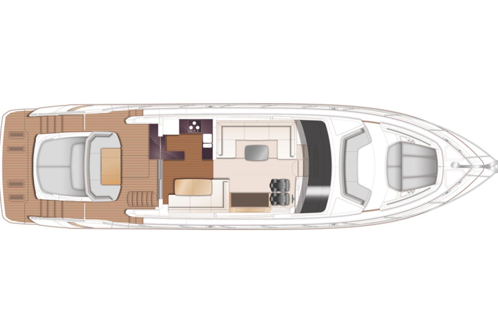 Princess-S65 2019-Paragon Cape Coral-Florida-United States-2019 65 Princess S65-Paragon-Main Deck Layout-1503977 | Thumbnail