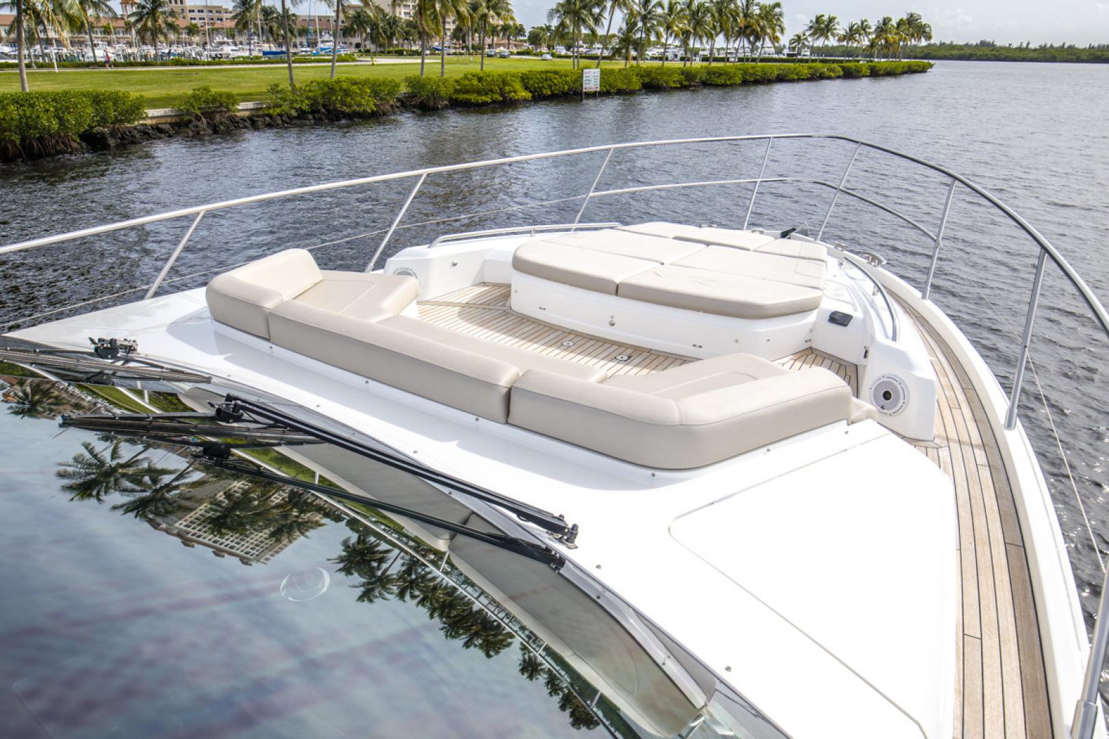Princess-S65 2019-Paragon Cape Coral-Florida-United States-2019 65 Princess S65-Paragon-Bow Deck Seating-1510282 | Thumbnail