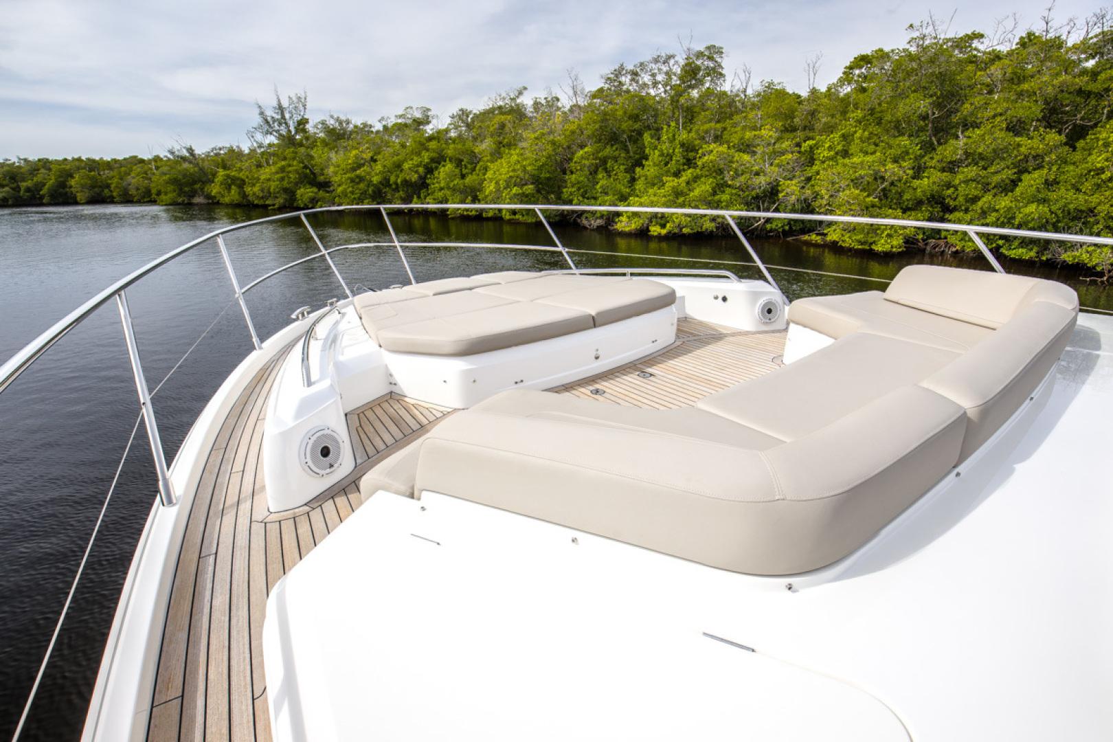 Princess-S65 2019-Paragon Cape Coral-Florida-United States-2019 65 Princess S65-Paragon-Bow Deck Seating-1510280 | Thumbnail