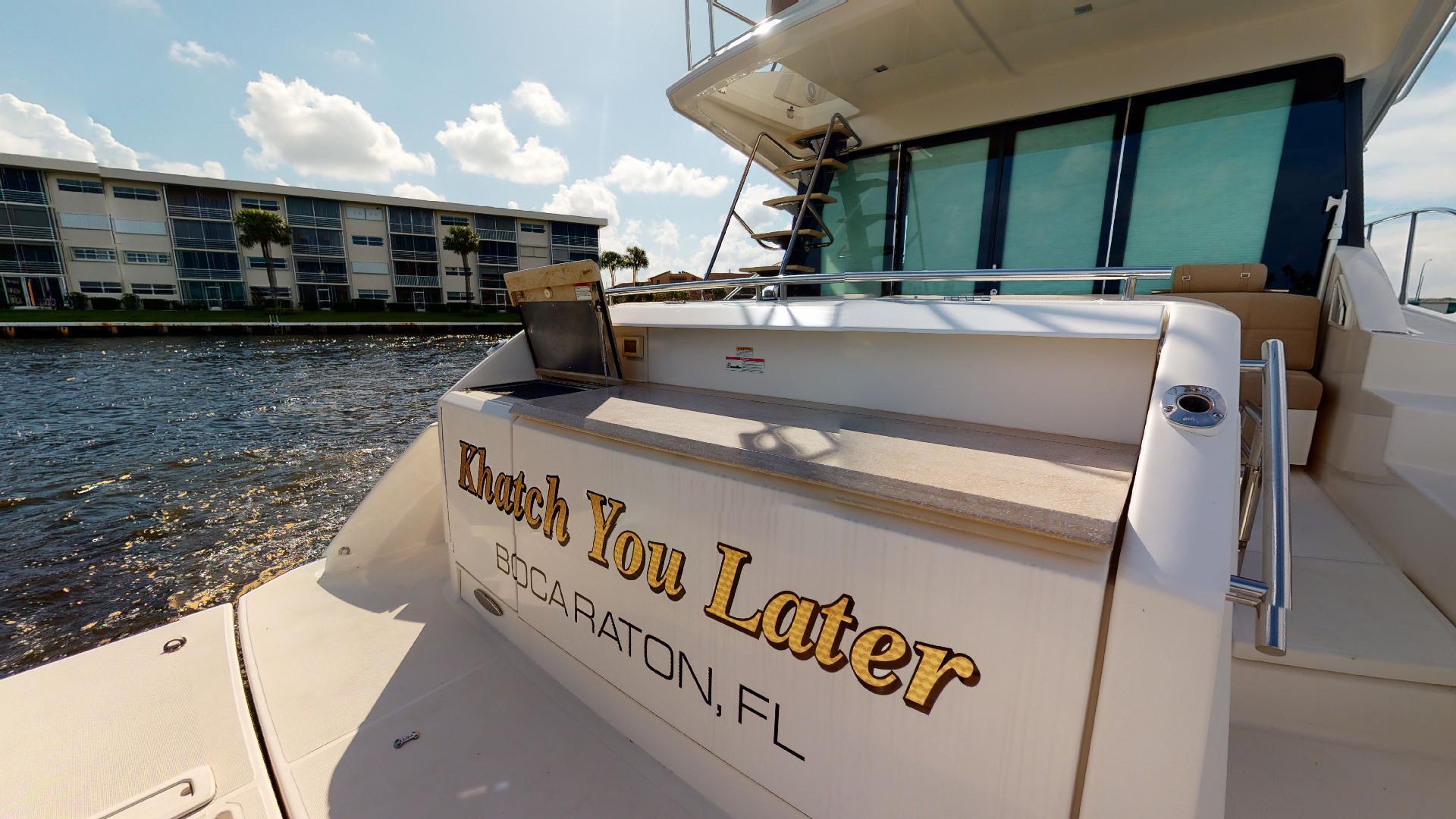 Tiara Yachts-50 Flybridge 2015-Khatch You Later North Palm Beach-Florida-United States-Transom-1509446 | Thumbnail