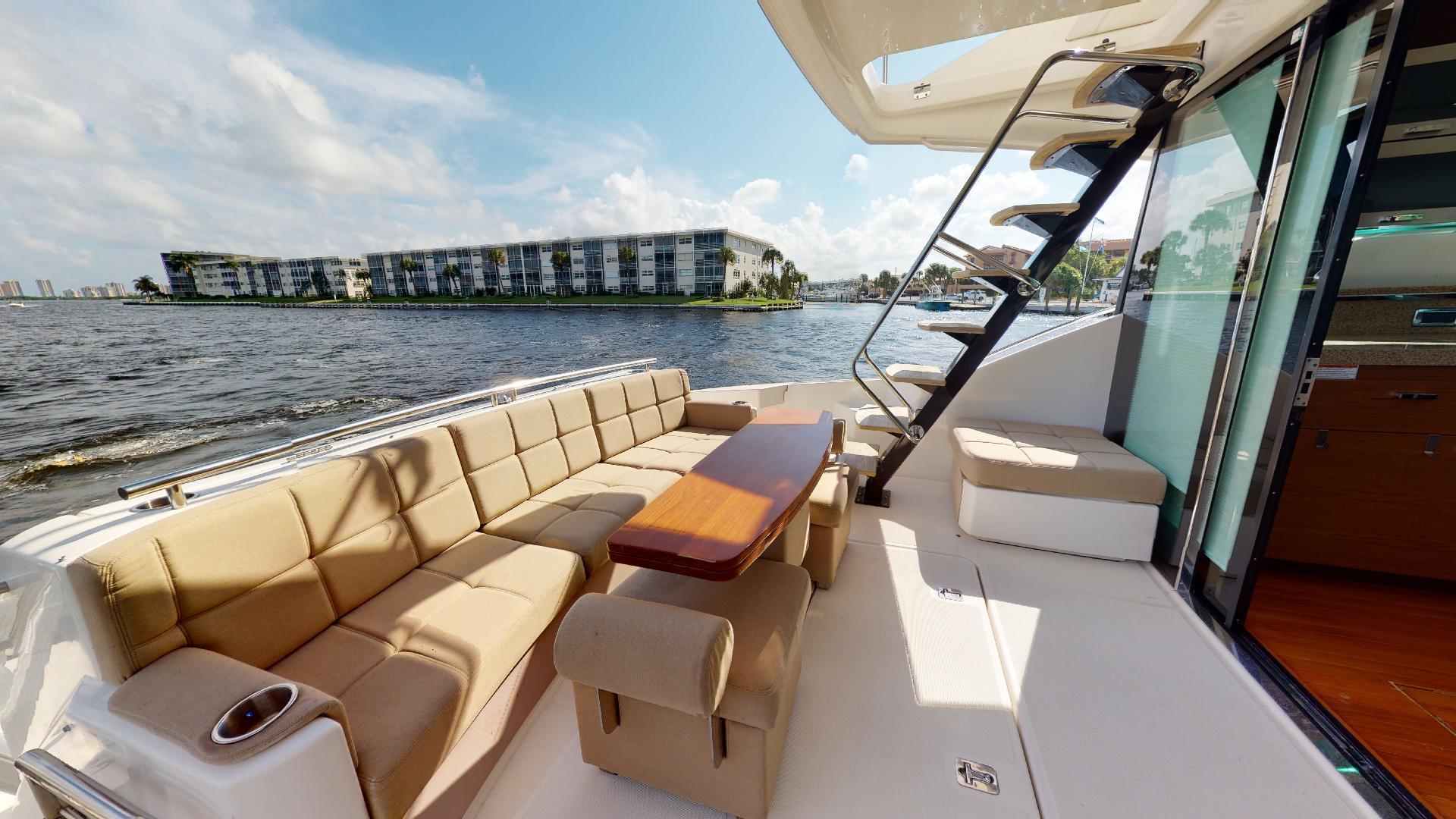 Tiara Yachts-50 Flybridge 2015-Khatch You Later North Palm Beach-Florida-United States-Aft Deck-1509440 | Thumbnail