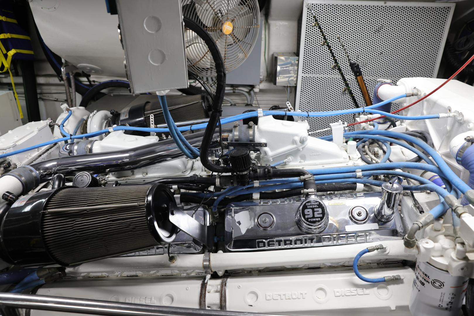 Hatteras-Convertible 1995-LADY LILA Newport Beach-California-United States-ENGINE ROOM-1516280 | Thumbnail