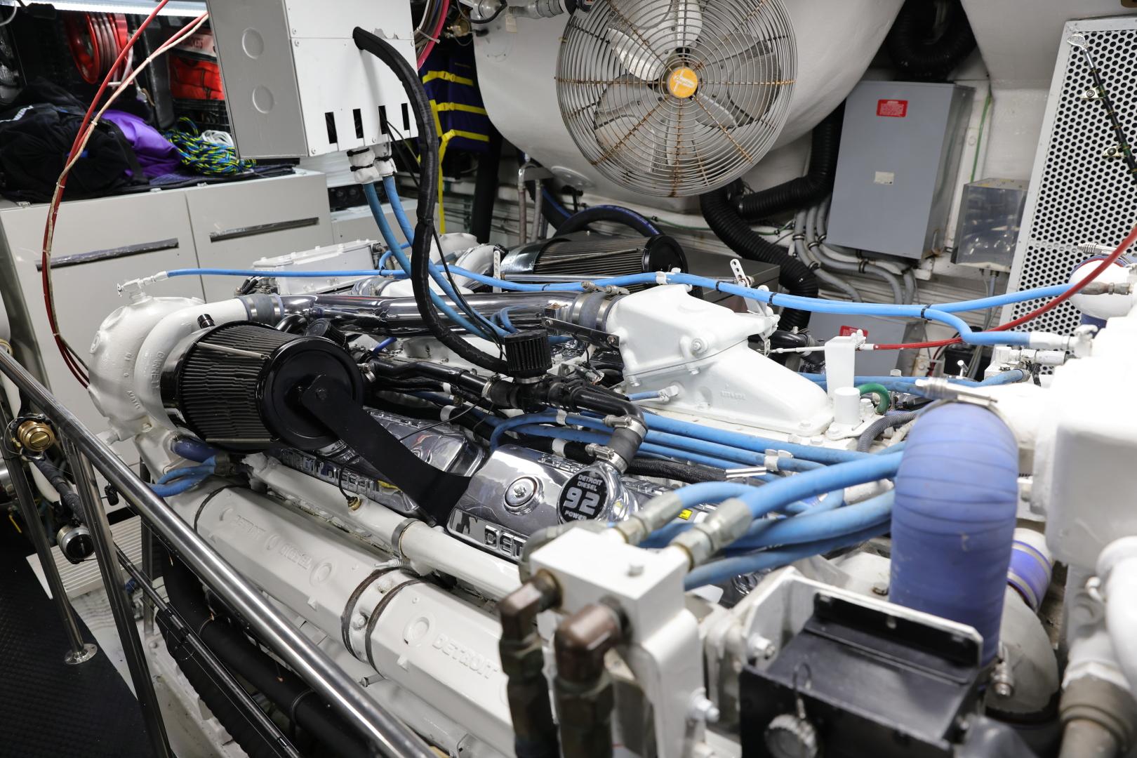 Hatteras-Convertible 1995-LADY LILA Newport Beach-California-United States-ENGINE ROOM-1516279 | Thumbnail