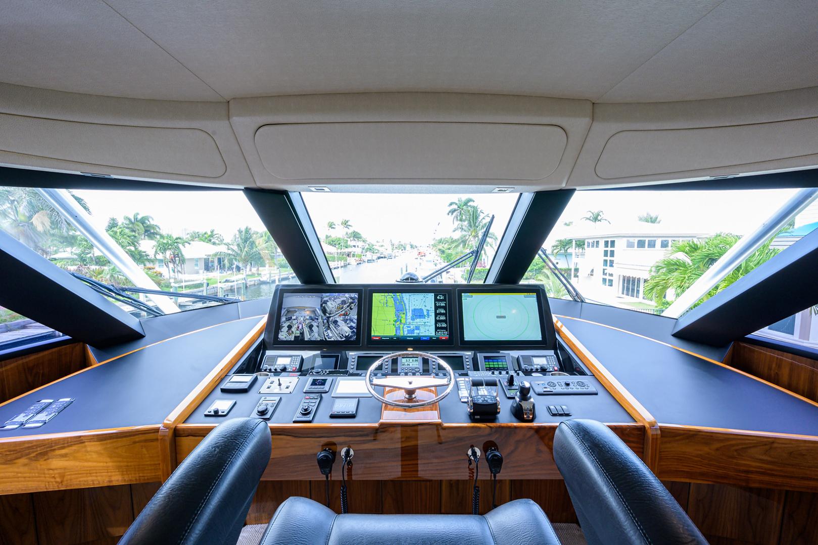 Viking-Enclosed Bridge 2016-LIVE OAK ONE Singer Island-Florida-United States-Helm-1510898   Thumbnail