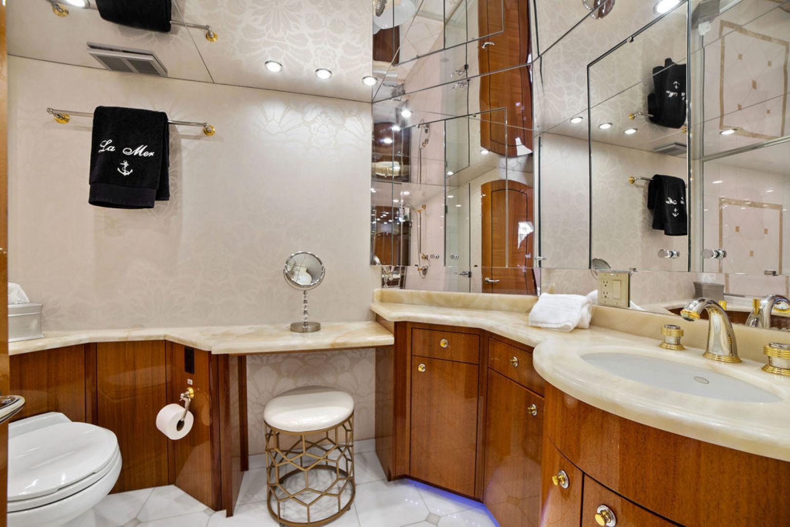 Hatteras-Enclosed Flybridge 2005-LA MER Fort Lauderdale-Florida-United States-Master Bath-1510622 | Thumbnail