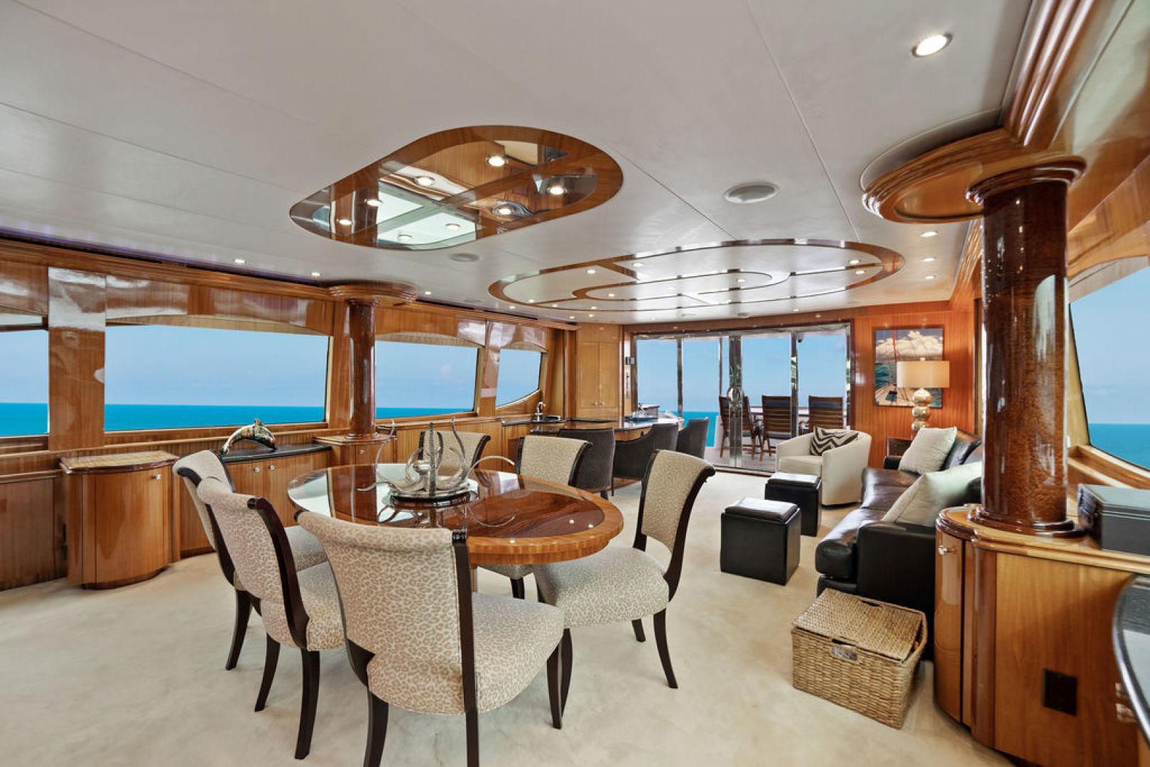 Hatteras-Enclosed Flybridge 2005-LA MER Fort Lauderdale-Florida-United States-Salon Dining-1510613 | Thumbnail