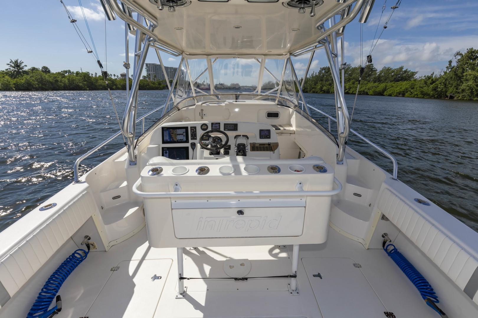 Intrepid-377 Walkaround 2005-Rock Boat REFIT 2018 Dania Beach-Florida-United States-377 Intrepid Helm 10-1511550 | Thumbnail
