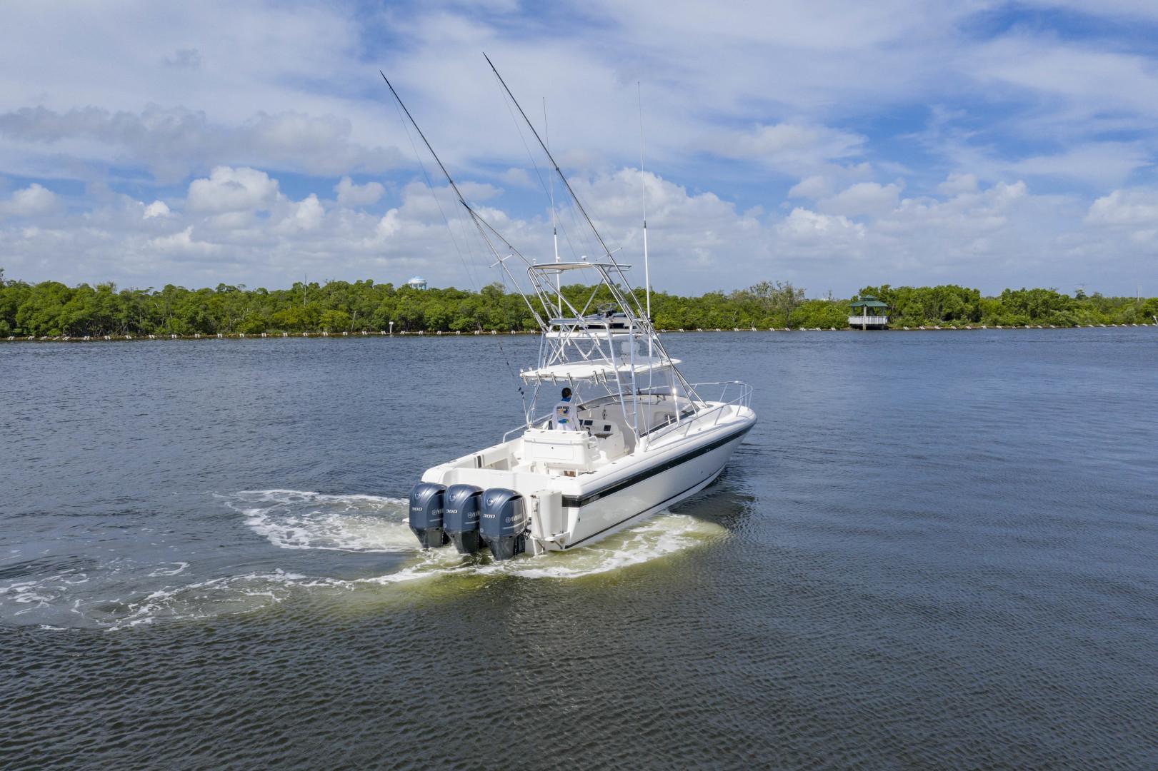 Intrepid-377 Walkaround 2005-Rock Boat REFIT 2018 Dania Beach-Florida-United States-377 Intrepid Profile Transom 2-1511556 | Thumbnail