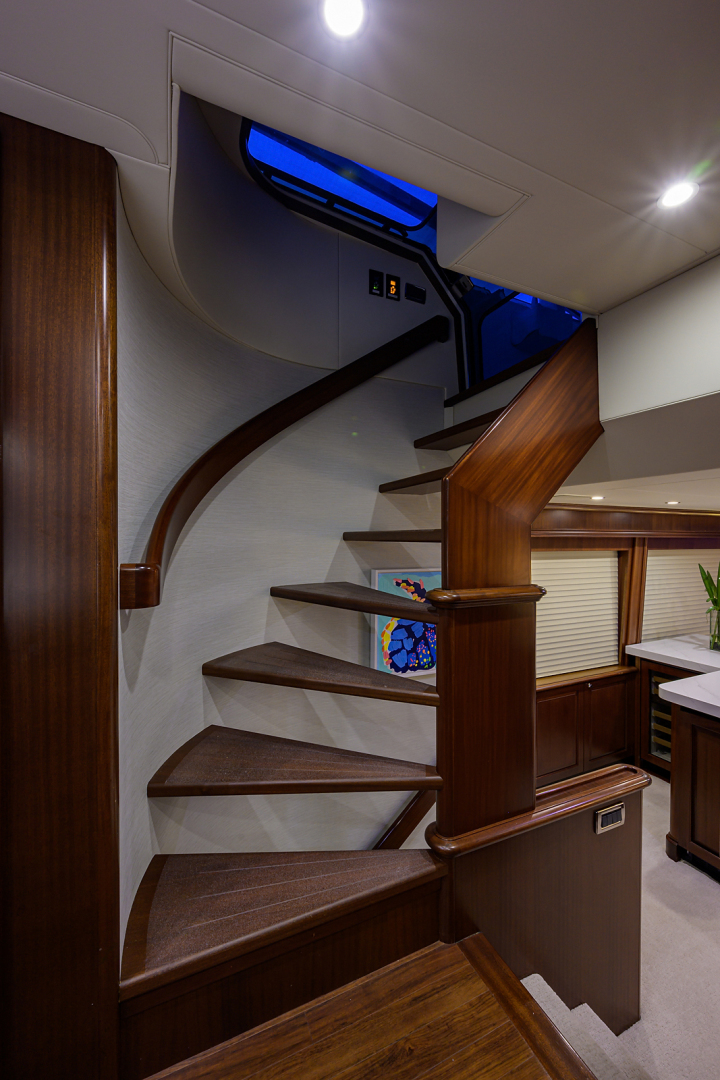 Pacific Mariner-Motor Yacht 2009-Celebrate North Palm Beach-Florida-United States-Stairway to the Staterooms-1512351 | Thumbnail