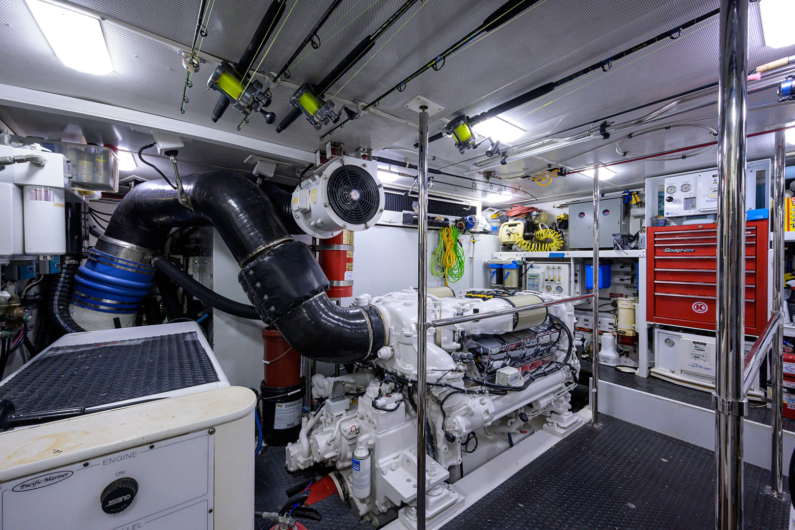 Pacific Mariner-Motor Yacht 2009-Celebrate North Palm Beach-Florida-United States-Engine Room-1512368 | Thumbnail
