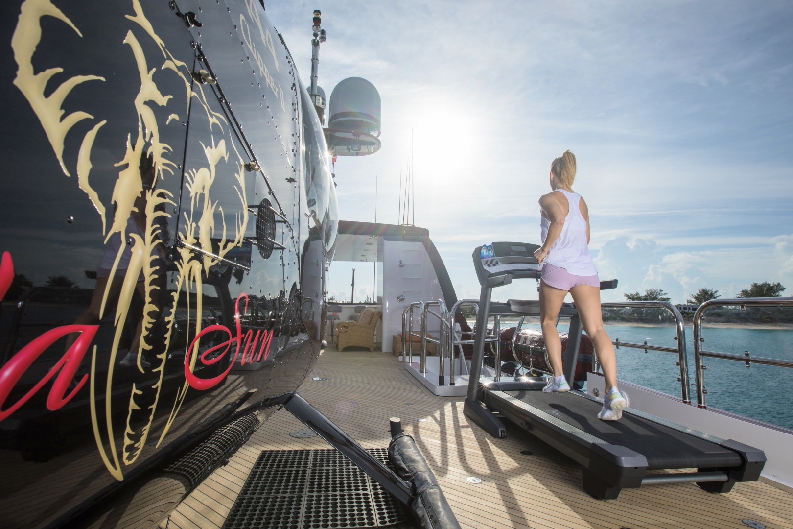 Trinity Yachts-164 Tri-deck Motor Yacht 2008-Amarula Sun Fort Lauderdale-Florida-United States-Exercise Equipment On Deck-1513906 | Thumbnail