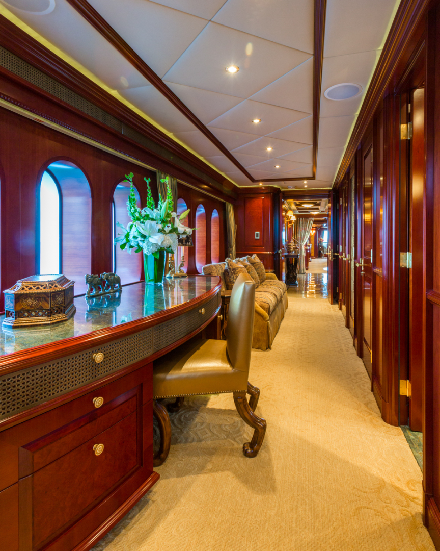Trinity Yachts-164 Tri-deck Motor Yacht 2008-Amarula Sun Fort Lauderdale-Florida-United States-Master Suite Office and Hallway-1513927 | Thumbnail