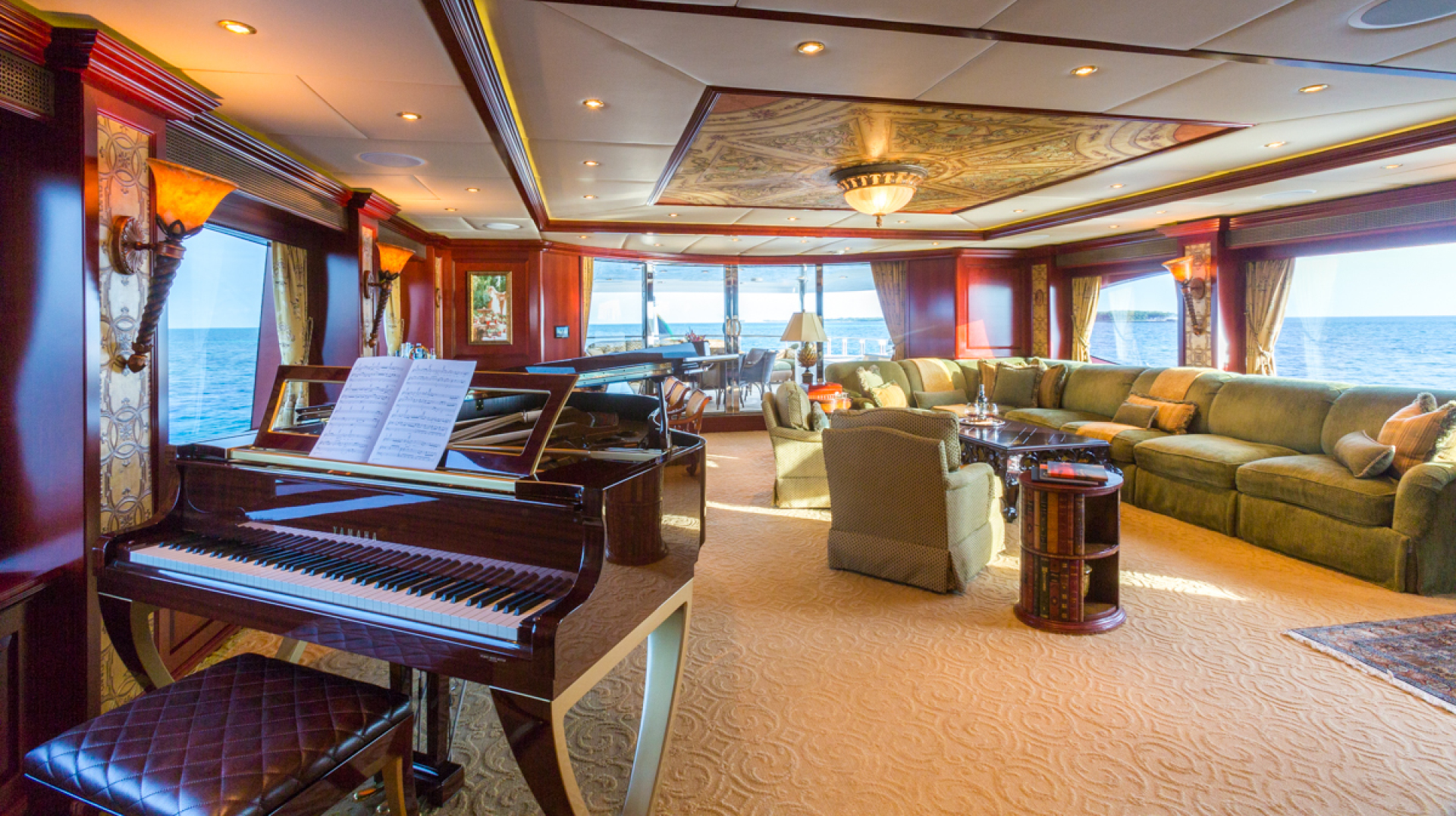 Trinity Yachts-164 Tri-deck Motor Yacht 2008-Amarula Sun Fort Lauderdale-Florida-United States-Skylounge Salon and Baby Grand Piano-1513952 | Thumbnail