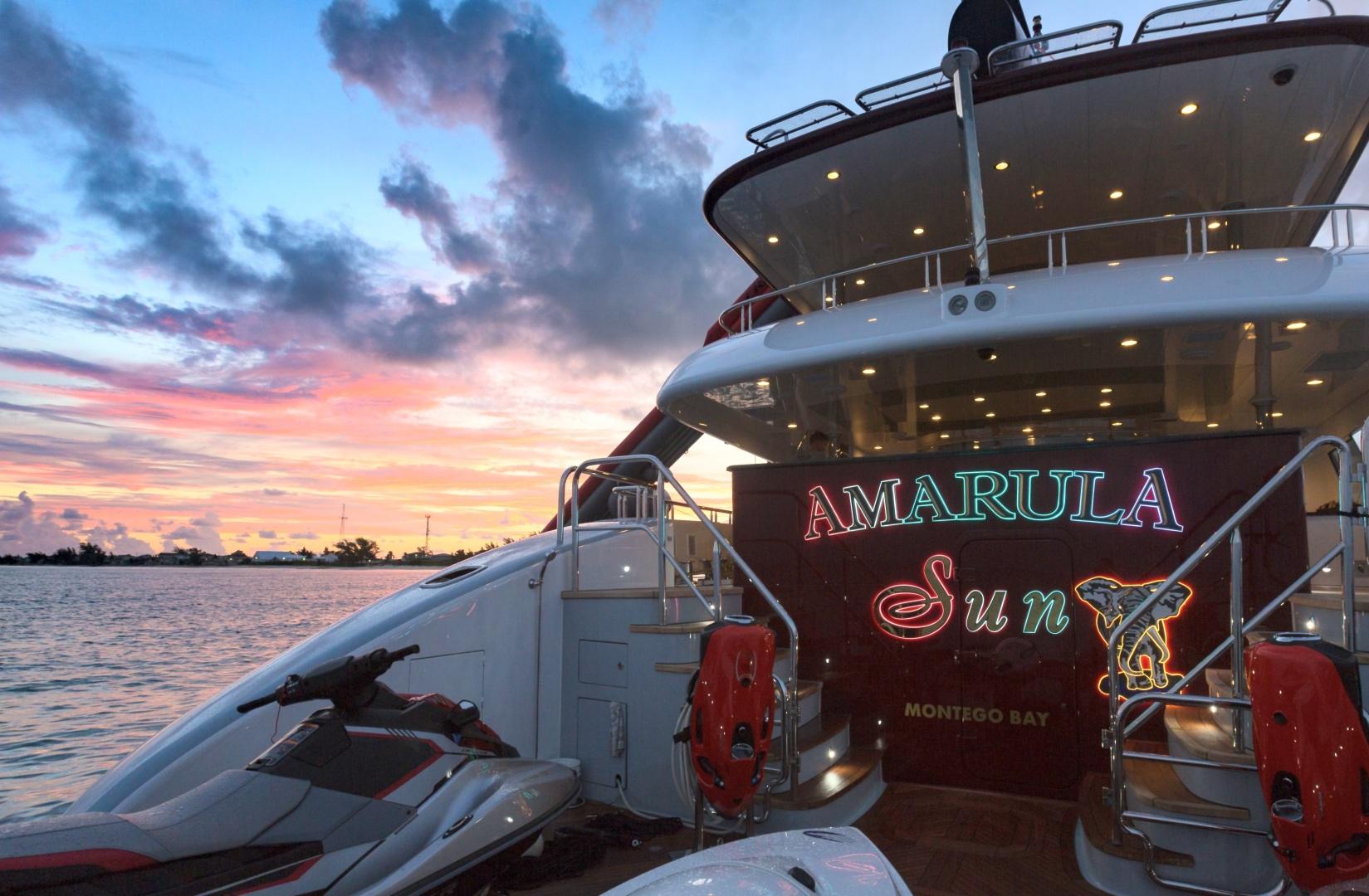 Trinity Yachts-164 Tri-deck Motor Yacht 2008-Amarula Sun Fort Lauderdale-Florida-United States-Transom At Sunset-1513961 | Thumbnail