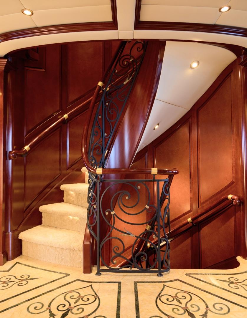 Trinity Yachts-164 Tri-deck Motor Yacht 2008-Amarula Sun Fort Lauderdale-Florida-United States-Staircase-1513953 | Thumbnail
